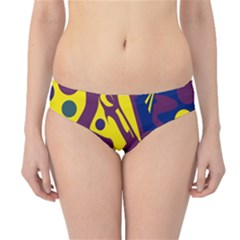 Deep blue and yellow decor Hipster Bikini Bottoms