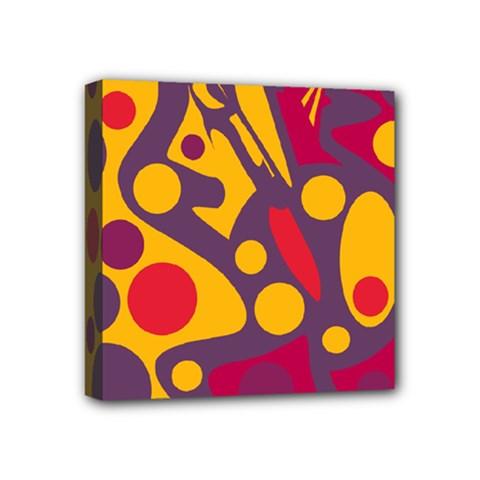 Colorful chaos Mini Canvas 4  x 4