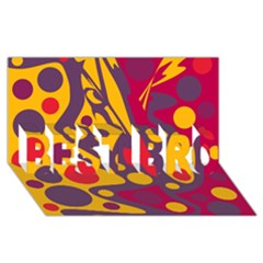 Colorful chaos BEST BRO 3D Greeting Card (8x4)