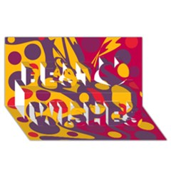 Colorful chaos Best Wish 3D Greeting Card (8x4)