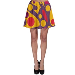 Colorful chaos Skater Skirt