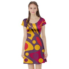 Colorful chaos Short Sleeve Skater Dress
