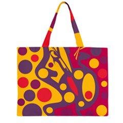 Colorful chaos Zipper Large Tote Bag