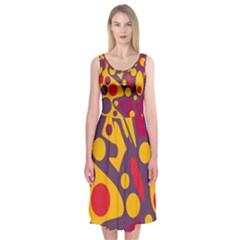 Colorful chaos Midi Sleeveless Dress
