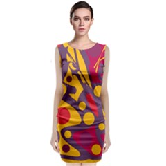 Colorful Chaos Classic Sleeveless Midi Dress