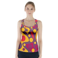Colorful Chaos Racer Back Sports Top