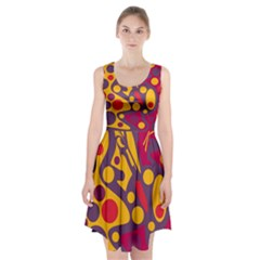 Colorful chaos Racerback Midi Dress