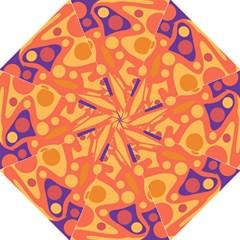 Orange and blue decor Folding Umbrellas
