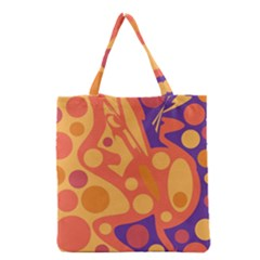 Orange and blue decor Grocery Tote Bag