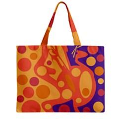 Orange and blue decor Zipper Mini Tote Bag