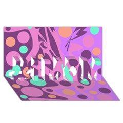 Purple and green decor #1 MOM 3D Greeting Cards (8x4)
