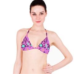 Purple and green decor Bikini Top
