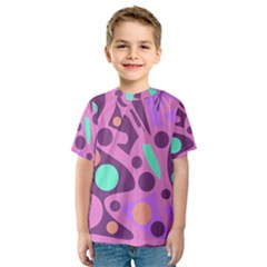 Purple and green decor Kid s Sport Mesh Tee