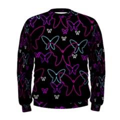 Purple butterflies pattern Men s Sweatshirt