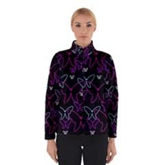 Purple Butterflies Pattern Winterwear