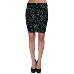 Green butterflies Bodycon Skirt