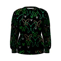 Green butterflies Women s Sweatshirt