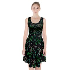Green butterflies Racerback Midi Dress