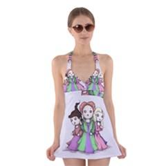 Hocus Pocus Plush Halter Swimsuit Dress