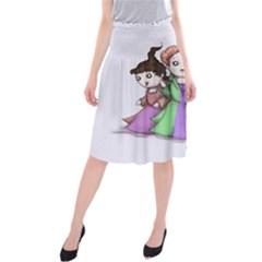Hocus Pocus Plush Midi Beach Skirt