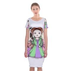Hocus Pocus Plush Classic Short Sleeve Midi Dress