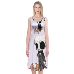 Smashing Pumpkin King  Midi Sleeveless Dress