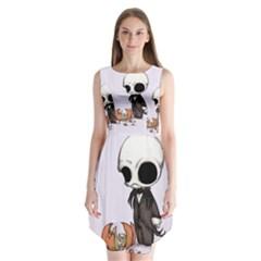 Smashing Pumpkin King  Sleeveless Chiffon Dress