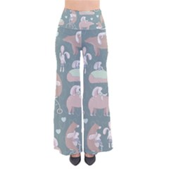 Bear Ruding Unicycle Unique Pop Art All Over Print Pants