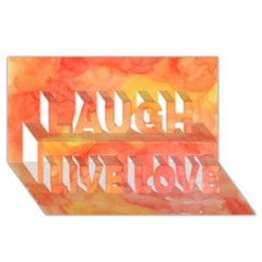 Watercolor Yellow Fall Autumn Real Paint Texture Artists Laugh Live Love 3D Greeting Card (8x4)
