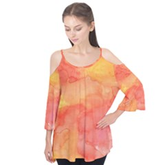 Watercolor Yellow Fall Autumn Real Paint Texture Artists Flutter Tees