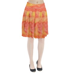 Watercolor Yellow Fall Autumn Real Paint Texture Artists Pleated Skirt