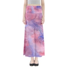 Galaxy Cotton Candy Pink And Blue Watercolor  Maxi Skirts