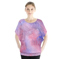 Galaxy Cotton Candy Pink And Blue Watercolor  Blouse