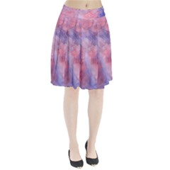 Galaxy Cotton Candy Pink And Blue Watercolor  Pleated Skirt