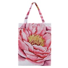 Large Flower Floral Pink Girly Graphic Classic Tote Bag