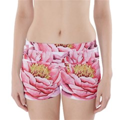 Large Flower Floral Pink Girly Graphic Boyleg Bikini Wrap Bottoms