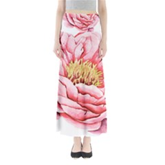 Large Flower Floral Pink Girly Graphic Maxi Skirts