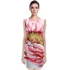Large Flower Floral Pink Girly Graphic Classic Sleeveless Midi Dress