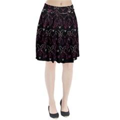 Pink Neon Butterflies Pleated Skirt
