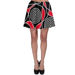Hypnotic design Skater Skirt