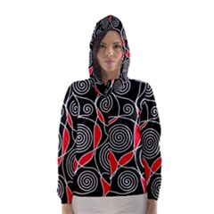 Hypnotic design Hooded Wind Breaker (Women)
