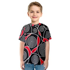 Hypnotic design Kid s Sport Mesh Tee