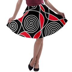 Hypnotic design A-line Skater Skirt