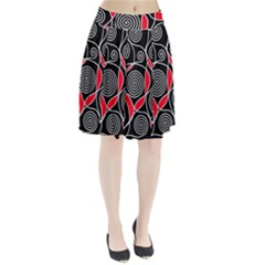 Hypnotic Design Pleated Skirt