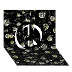 My soul Peace Sign 3D Greeting Card (7x5)