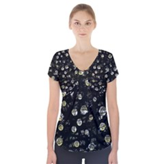 My Soul Short Sleeve Front Detail Top