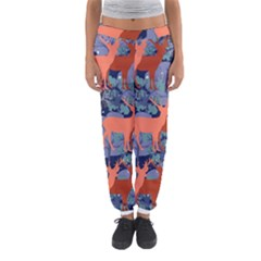 Deer In The Winter Forest Women s Jogger Sweatpants