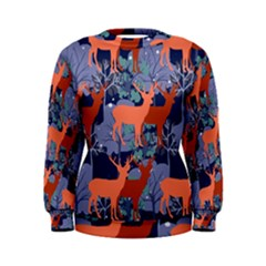 Deer In The Winter Forest Women s Sweatshirt