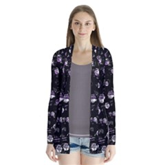 Purple Soul Drape Collar Cardigan