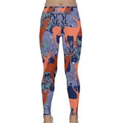 Deer In The Winter Forest Yoga Leggings